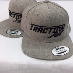 traction mx hat heather black